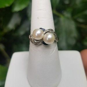 10k Gold Pearl Vintage Ring